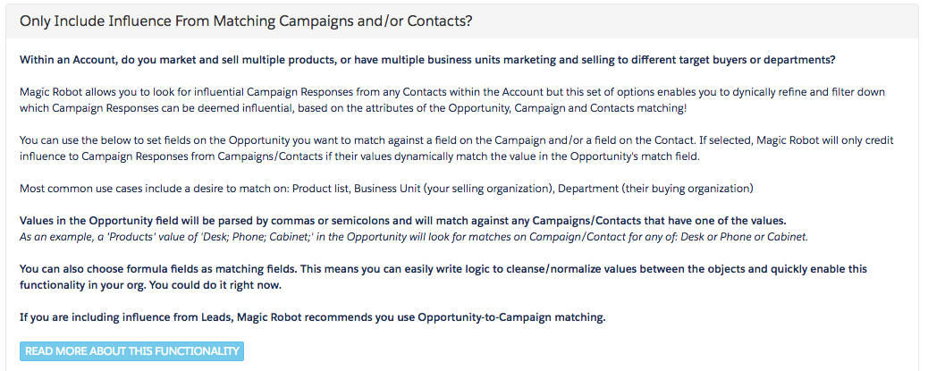 Using Dynamic Opportunity-to-Campaign and Opportunity-to